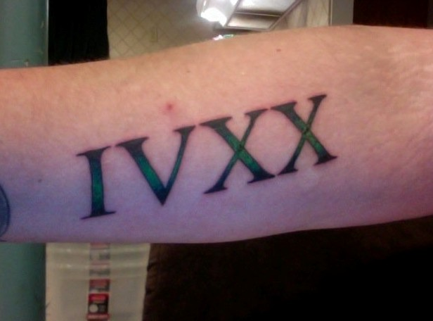 420 Roman Numerals Tattoo 1