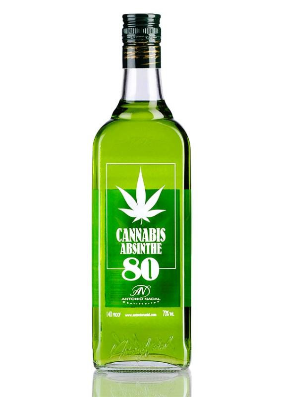 Absinthe Antonio Nadal Tunel 80  Cannabis 70cl osc big