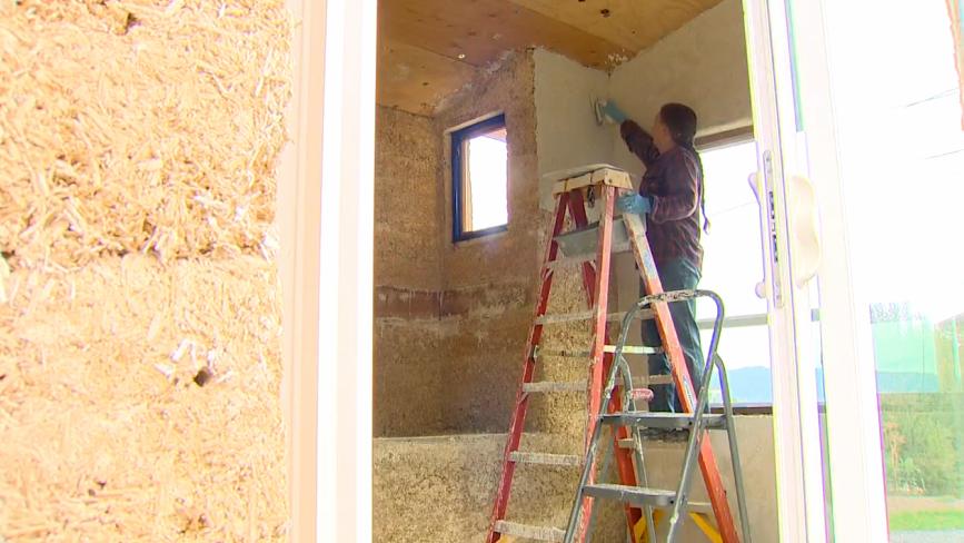 Mulher constrói duas casas de cânhamo em Washington