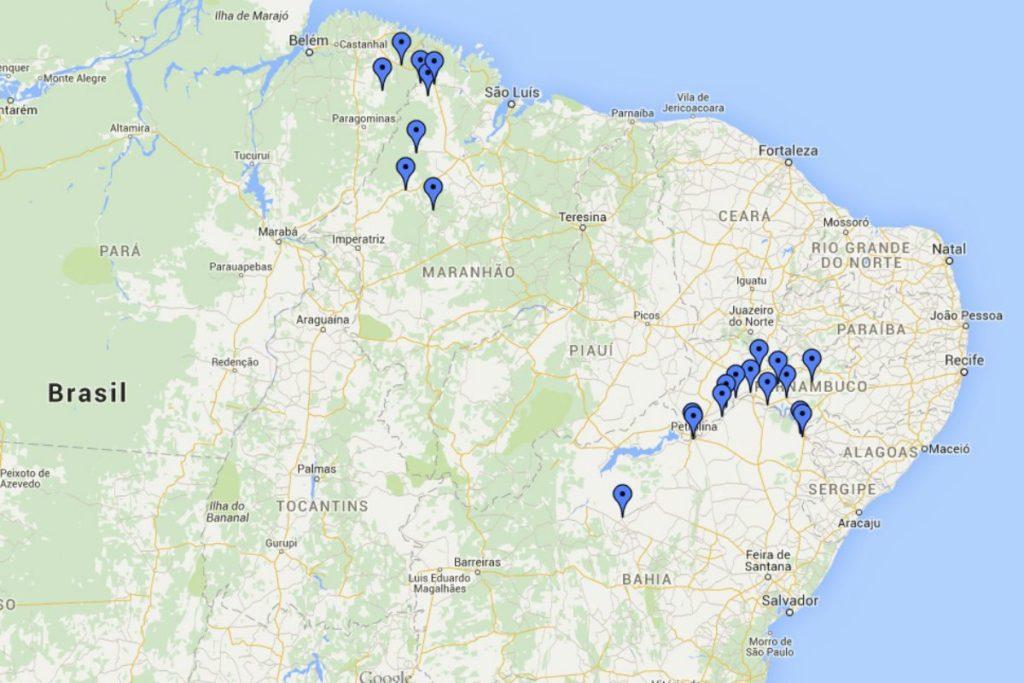 O Polígono da Maconha inclui 13 cidades do sertão pernambucano e baiano. Ao norte, desponta outro polo produtor de cannabis no Maranhão e Pará.