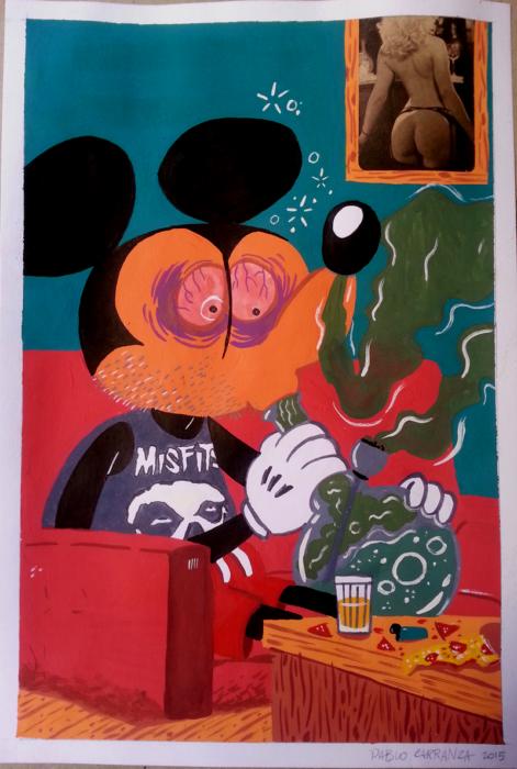 Mickey versão 420. Trincadíssimo!