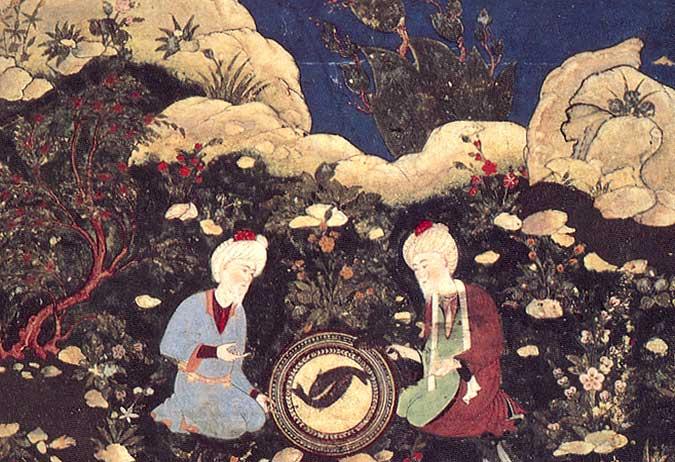 Os profetas Elias e Khizr na fonte da vida