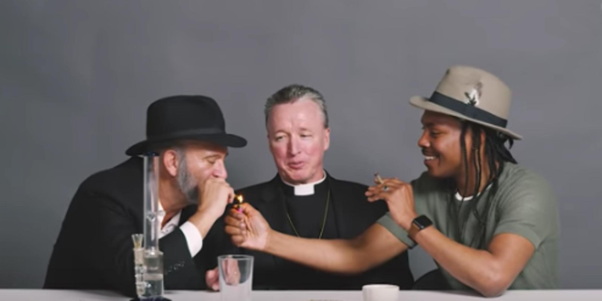 Vídeo mostra um rabino, um padre e um ateu fumando maconha juntos